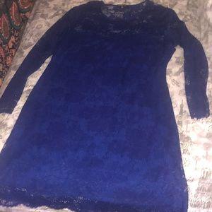 A blue Lace Dress